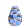 Glass Wired Lamp Bead 13/9mm Sapphire/Gold